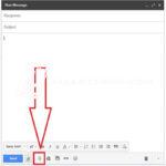 Setelah itu akan muncul format untuk mengirim Email. Nah, di sini Anda hanya perlu mengklik simbol attachment files.