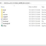 Sama seperti ketika mount ISO di Windows 10, kamu akan dibawa ke direktori tempat file ISO berada.